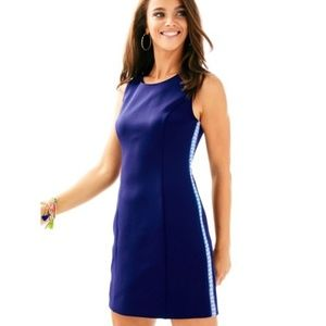 Lilly Pulitzer Mila Shift Scuba Navy Mini Dress